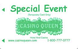 Casino Queen - East St. Louis, IL - Special Event Temporary Slot Card - Casino Cards