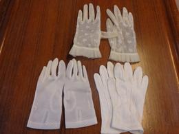 3 Paires Gants Enfants -nylon Coton Et Autre - Non Classés
