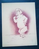 Caricature Lithographie Georges Bastia, Le Zoo Des Vedettes, Porc, Cochon - Lithographies