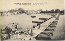 NANTES  Ecroulement Du Pont De Pirmil 26 Mai 1924 Un Pont De Bateaux De 230 M  Sur La Loire - Nantes