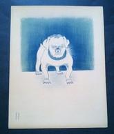 Caricature,lithographie Georges Bastia, Le Zoo Des Vedettes, Fernand Ledoux En Bouledogue - Lithographies
