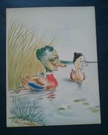 Caricature,lithographie Georges Bastia, Le Zoo Des Vedettes, Canards - Lithographies