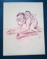 Caricature Lithographie Georges Bastia, Le Zoo Des Vedettes, Singes - Lithographies