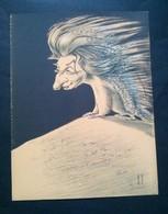 Caricature,lithographie Georges Bastia, Le Zoo Des Vedettes, Hérisson - Lithographies
