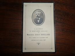 SOUVENIR PIEUX / Mr ALBERT DOUILLARD / PARIS 1872 1927 - Avvisi Di Necrologio