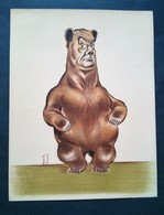 Caricature,lithographie Georges Bastia, Le Zoo Des Vedettes,ours - Lithographies