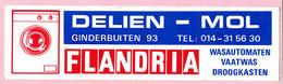 Sticker - DELIEN - Mol - Ginderbuiten - Flandria Wasautomaten - Stickers