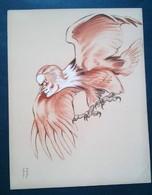 Caricature,lithographie Georges Bastia, Le Zoo Des Vedettes, Pierre Blanchar En Oiseau De Proie - Lithographies