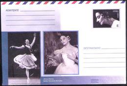 657  Ballet - Alicia Alonso - Postal Stationary (E)  2018 - Unused - 2,25 - Danse
