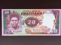 SWAZILAND P12 20 EMALANGENI 1986 UNC - Swaziland