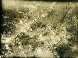 France WWI Vaux Bataille Ruines Ancienne Photo Aérienne 1 Juillet 1918 - Aviation