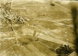 France WWI Bouresches Bataille De Chateau Thierry Ancienne Photo Aérienne 5 Juillet 1918 - Aviation