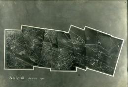 France Paris Auteuil Panorama Première Guerre Mondiale WWI Ancienne Photo Aerienne 1918 - Aviation