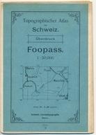 1908 Schweiz- Landestopographie Bern - Foopass - 1 : 50 000 (Näfels, Glarus, Disbach, Elm, Flums, Maienfeld, Chur) - Cartes Topographiques