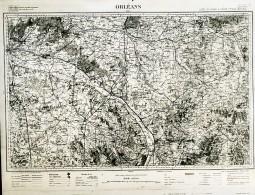 France Carte D'Etat-Major Région De Orléans Première Guerre Mondiale Ancienne Photo 1918 - Aviation