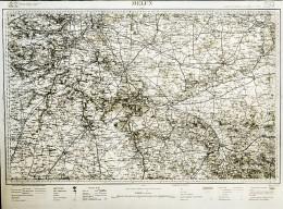 France Carte D'Etat-Major Région De Melun Première Guerre Mondiale Ancienne Photo 1918 - Aviation