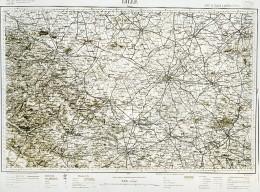 France Carte D'Etat-Major Région De Lille Première Guerre Mondiale Ancienne Photo 1918 - Aviation