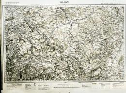 France Carte D'Etat-Major Région De Dijon Première Guerre Mondiale Ancienne Photo 1918 - Aviation