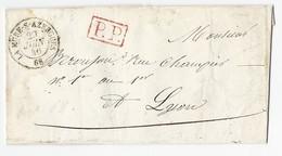 Lettre Sans Texte De La Mure-s-Azergues En Port Payé Pour Lyon Du 29 1uin 1846 - 1801-1848: Precursors XIX