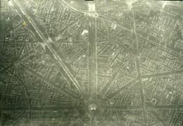 France WWI Paris Place De L'Etoile Ancienne Photo Aerienne 1918 - Luftfahrt