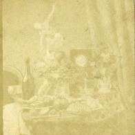 France Nature Morte Fantaisie Ancienne Photo Stereo Papier Sale ? 1860 - Stereoscopic