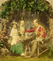Grande Bretagne Manoeuvres Militaires Scene De Genre Ancienne Photo Stereo 1860 - Stereoscopic