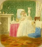 France Fantaisie Jeune Femme Scene De Genre Ancienne Photo Stereo 1860 - Stereoscopic