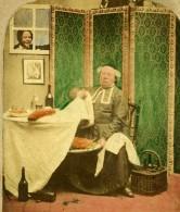 Royaume Uni Jour Maigre Fast Day Scene De Genre Ancienne Photo Stereo 1860 - Stereoscopic