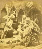 France Reconstitution Historique Scene De Genre Ancienne Photo Stereo 1860 - Stereoscopic