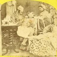 Irlande? The Pleasures Of Matrimony Scene De Genre Ancienne Photo Stereo 1860 - Stereoscopic