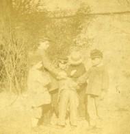France Enfants Jeu De La Main Chaude Fantaisie Ancienne Photo Stereo 1860 - Stereoscopic