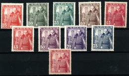 3758-España Nº 1024/32 - 1931-50 Nuevos & Fijasellos