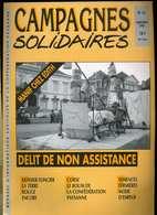 Campagnes Solidaires 45 Septembre 1991 Châtellerault, Corse , Semences Fermières, Finistère, Pays-Bas Mexique Larzac - Corse