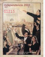 2003 El Salvador Independence Souvenir Sheet Complete MNH - El Salvador