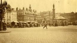 France Lille Grand Place Marché Aux Fleurs Tramway Ancienne Photo Capin 1933 - Places