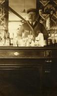 France Lille Estaminet Le Café André Le Patron Au Comptoir Ancienne Photo Capin 1933 - Places