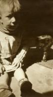 France Lille Portrait étude Enfant Michel Helvant Ancienne Photo Capin 1933 - Places