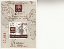 2003 El Salvador Grupo Roble Souvenir Sheet Complete MNH - El Salvador
