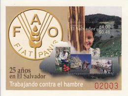 2003 El Salvador FAO Food Agriculture Souvenir Sheet Complete MNH - El Salvador