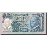 Billet, Turquie, 500 Lira, L.1970, 1970-01-14, KM:190, NEUF - Turquie