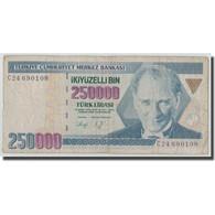 Billet, Turquie, 250,000 Lira, L.1970, 1970-01-14, KM:207, B+ - Turquie