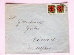 SUISSE / SCHWEIZ / SWITZERLAND // 1923, Brief, Mit 2x 10 Rp. PRO JUVENTUTE 1923, KNUTWIL 11.XII.23 => REINACH - Lettres & Documents