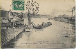NANTES - BUTTER  Laiterie-beurrerie De Nantes Vus Panoramique De La Loire (voilier Péniche) - Nantes