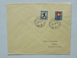SUISSE / SCHWEIZ / SWITZERLAND // Brief, Mit 5Rp. + 30Rp. PRO JUVENTUTE 1924, BASEL 20.I.25 - Lettres & Documents