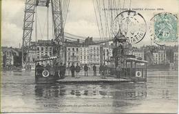NANTES Inondations Février 1904 La Loire Au Niveau Du Plancher De La  Nacelle Du Pont à Transbordeur - Nantes