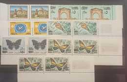 Lebanon Liban 1972 Complete Overprint In Strips Of 2 MNH Setf 4 - Líbano