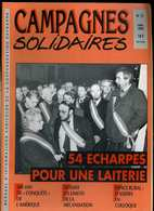 Campagnes Solidaires 51 Mars 1992 Aveyron, Roquefort, Laiterie, Tracteurs à Huile, Or Montagne Noire Mines De Salsigne - Midi-Pyrénées