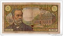 """FRANCE . 5 FRANCS . TYPE """" PASTEUR """" 08-01-1970 - Réf. N°10975 - - 1962-1997 ''Francs''"""