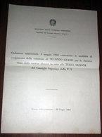 ORDINANZA MINISTERIALE 3 MAGGIO 1962 PUBBLICA ISTRUZIONE MINISTRO GUI - Documenti Storici