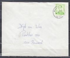 Brief Van Weelde C Naar Brussel - 1953-1972 Lunettes